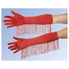 Handschuhe Satin rot