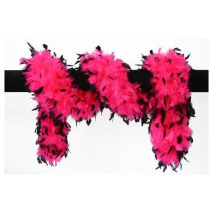 Federboa pink-schwarz Deluxe