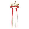 Krone rot-gold mit Bändern