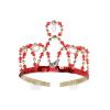 Krone mit Pailletten, rot