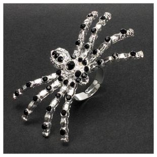 Fingerring Spinne silber