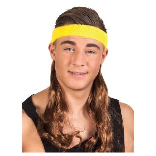 Stirnband mit Haaren, braun