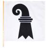 Fahne BS, Plastik, 20x20 cm