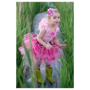 Kleid Flower pink, 4-6 Jahre