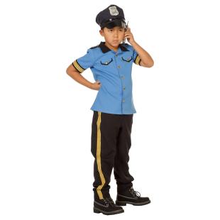 Polizei Junge Blue Gr.164