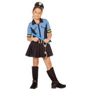 Polizeimädchen Blue Gr.164