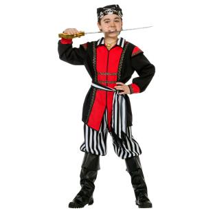 Pirat schwarz-weiss Gr.128