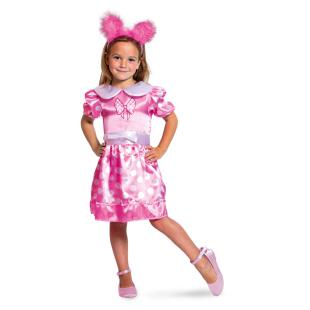 Kleid pink-gepunktet Gr.S