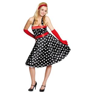Kleid 50-er schwarz Gr.38