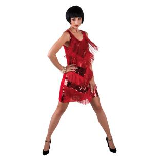 Kleid Chicago red Gr. M