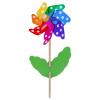 Windrad Blume mit Punkten