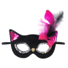 Maske Katze schwarz