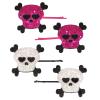 Haarclips Skull mit Glitzer