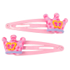 Haarclip Pink Crown, 2 Stk.