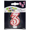 Geburtstagskerze Zahl 3