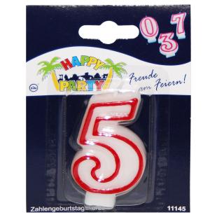 Geburtstagskerze Zahl 5