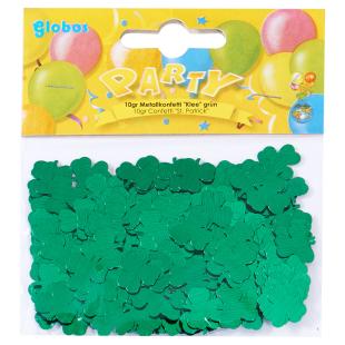 Konfetti Kleeblatt grün